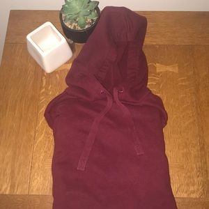 Maroon hooded sweatshirt